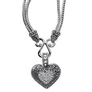 "Lia Sophia ""Love Dust"" Heart Pendant Necklace"